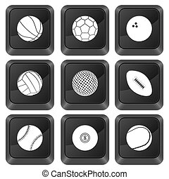 computer buttons sports