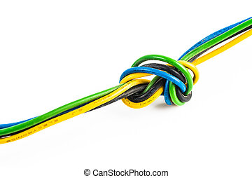 computer cable isolated on white background