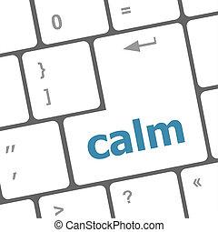 computer, calma, chiave, tastiera