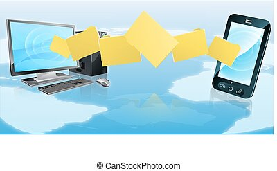 Computer cell phone folder transfer