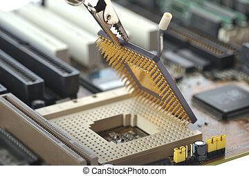 computer, centrale, processore