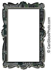 Computer chip frame