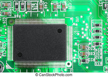 Computer chip. - Microcircuit from a modem to connect to the...