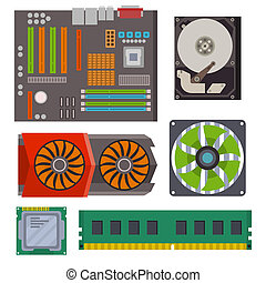 Computer chip technology processor circuit motherboard information system illustration