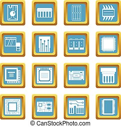 Computer chips icons azure
