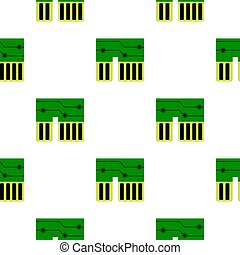 Computer chipset pattern flat - Computer chipset pattern...