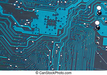 computer circuit board, close-up