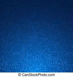 Computer circuit board. - Computer circuit board Vector...