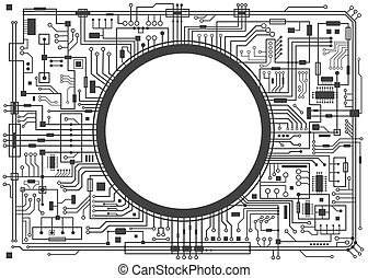 Computer circuit board.