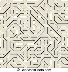 Computer circuit board. Seamless pattern.