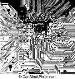 Computer circuit board (vector) - Computer circuit board ...