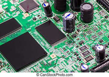 Computer circuit board with central processing unit