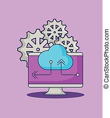 computer cloud storage data gears innovation