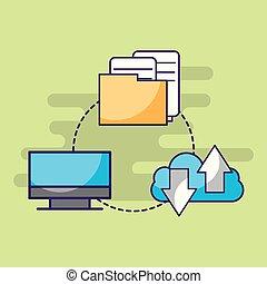 computer cloud storage data information documents