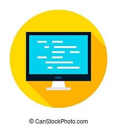 Computer Coding Circle Icon