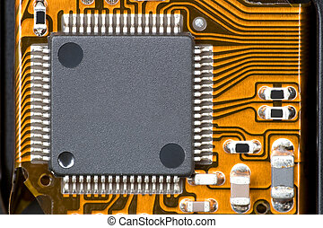 Computer Component - 100mm macro image of a computer...