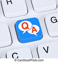 Computer concept question and answer support online help contact customer service