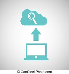 computer connected cloud browser