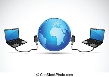 Computer connected with Globe