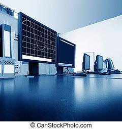 Computer control room