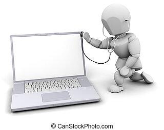 computer, controllo sanitario