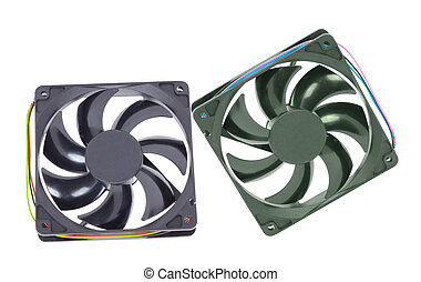computer cooler isolated on white background