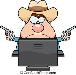 computer, cowboy