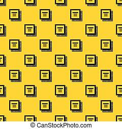 Computer CPU processor chip pattern vector