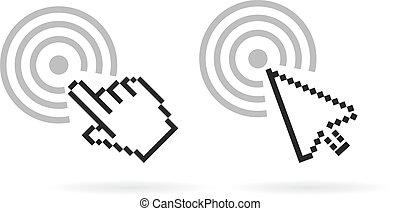 Computer cursor vector icon
