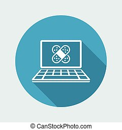 Computer damaged - Vector icon for computer website or application