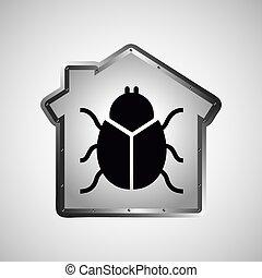 computer data protection virus icon