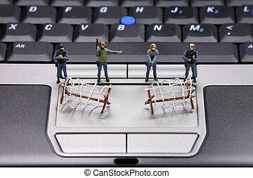 Computer data security concept