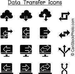 Computer Data Transfer icon set