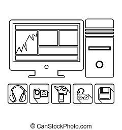 computer database server icon stock