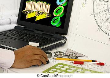Computer design of machine parts - 3d modeling.