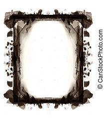 Computer designed highly detailed grunge frame with space...