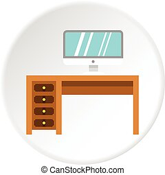 Solid circle web computer icons  vector illustration of