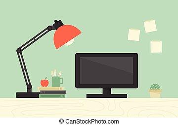 Computer desk, workplace