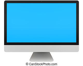 computer desktop, con, schermo blu