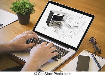 computer desktop house project