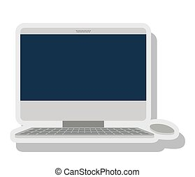 computer desktop isolated icon