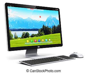 computer desktop, pc