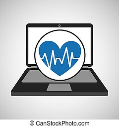 computer digital healthcare pulse heart