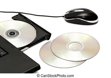 computer disk drive and mouse