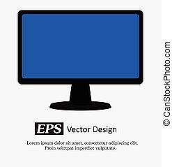 Computer Display Vector Illustration