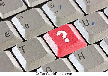 computer, domanda, chiave, tastiera