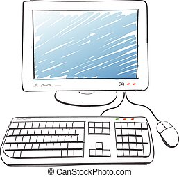 computer drawing - illustration of computer drawing on white...