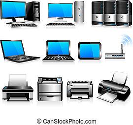 computer, drucker, technologie