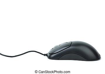 computer, elegante, mouse ottico, nero