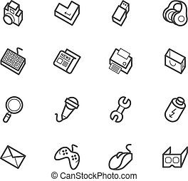 computer element vector icon set